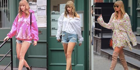 Clothing, Street fashion, Pink, Footwear, Fashion, Leg, Shorts, Jeans, Snapshot, Fashion model,