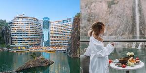 廢棄礦坑改造成「地底16層」奢華飯店!水底玻璃屋、四面環繞懸崖,上海洲際飯店的超狂設計被譽為世界建築奇蹟!