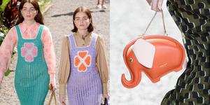 【紐約時裝週】Kate Spade 穿著閨蜜裝去野餐,還有吉娃娃作伴!童趣小象包、夢幻印花長裙⋯ 每件單品都讓少女心大噴發
