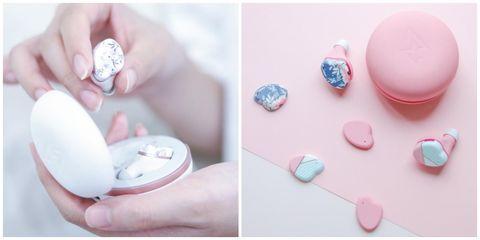 日本妹瘋搶aviot「馬卡龍耳機」終於上市啦!6種花色耳機外殼,打開還有小鏡子!