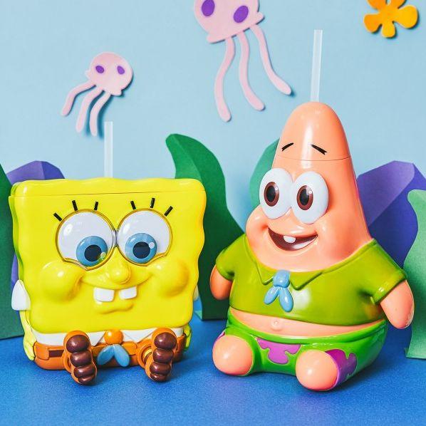 威秀影城獨推「幼童版」海綿寶寶、派大星造型杯,還有深海大鳳梨爆米花桶