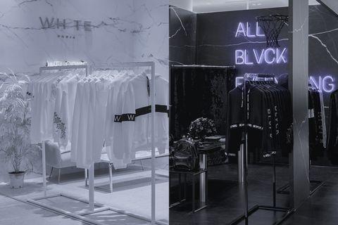 法國潮流精品blvck x whte在信義遠百a13打造全新黑白概念期間限定快閃店