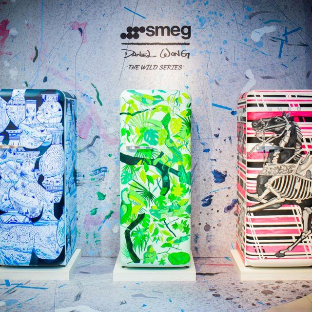義大利美學家電 smeg x 華裔設計師 daniel wong 全球限量3台手繪藝術冰箱