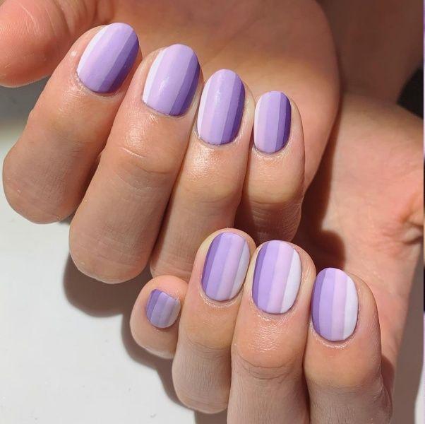 40款紫色美甲推薦!法式風、漸層紫色與糖果紫指彩圖案今年必試
