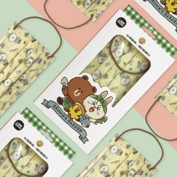 line friends可愛口罩再一彈!熊大、兔兔、莎莉3款手繪風格,開賣時間、通路一次看