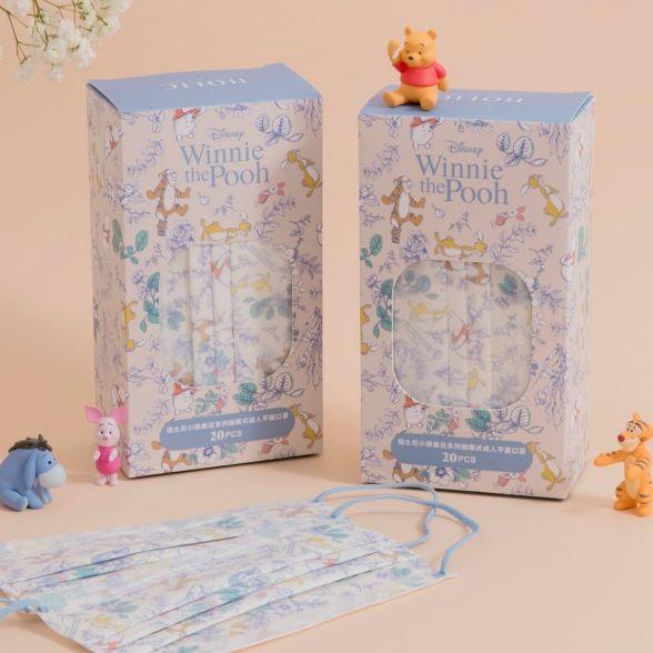 小熊維尼口罩第二彈!夢幻寶寶藍、手繪風格,「維尼、跳跳虎、屹耳、小豬」齊聚萌翻了