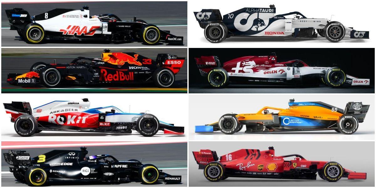 F1 Todos Los Fórmula 1 De 2020 De Un Vistazo