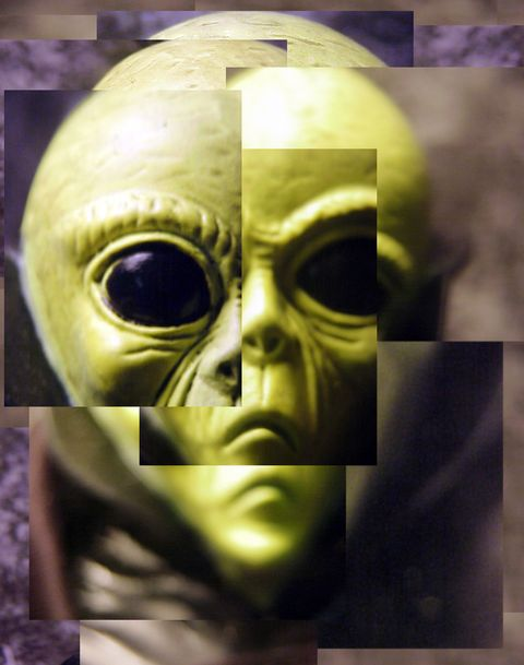collage of alien
