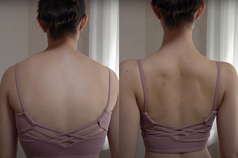 日本火紅「瘦背運動影片」破兩千萬點閱,8分鐘練出零贅肉美背、改善駝背視覺瘦5公斤
