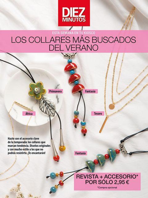 descubre los cinco collares que podrás adquirir con tu revista favorita