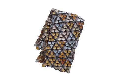 Brown, Yellow, Amber, Pattern, Orange, Triangle, Symmetry, Pattern,