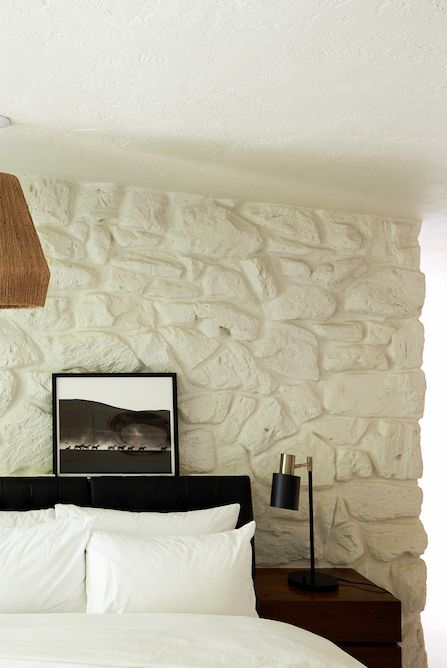 how to paint stone walls