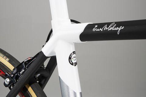 Bicycle part, White, Bicycle frame, Bicycle wheel, Vehicle, Bicycle, Road bicycle, Carbon, Bicycle fork, Racing bicycle,