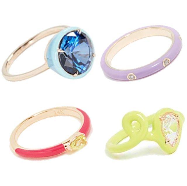 療癒系輕珠寶必收!20款讓人心情好好的「淡彩寶石」戒指推薦