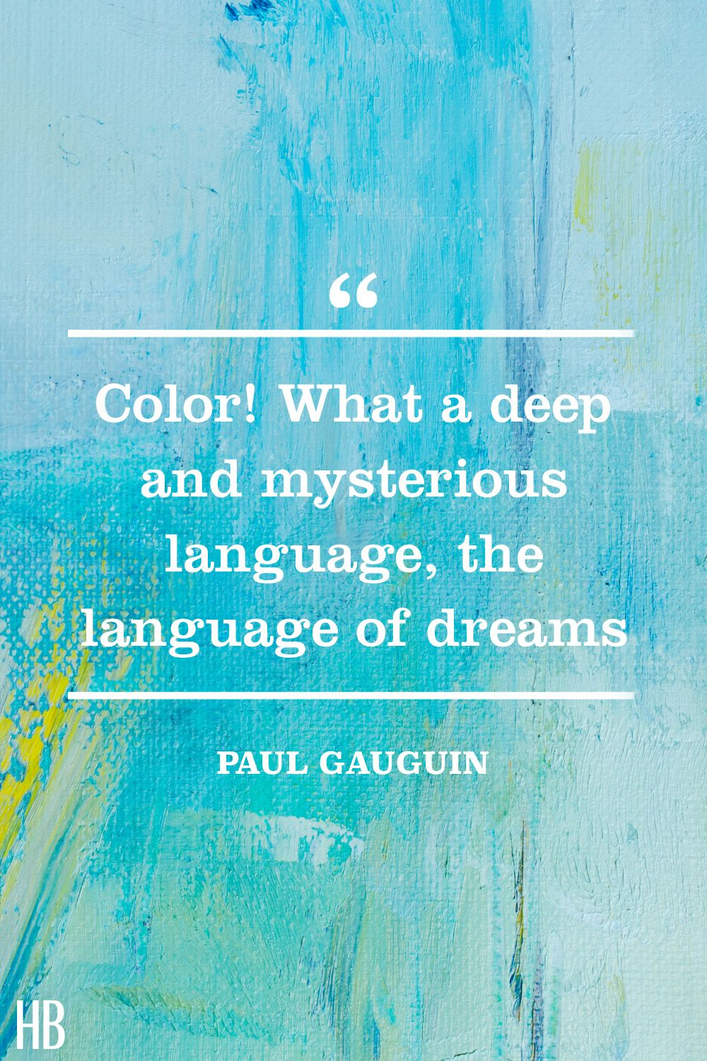 paul gauguin​​ color quote