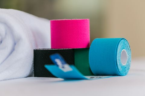Color variety of therapeutic self adhesive tapes