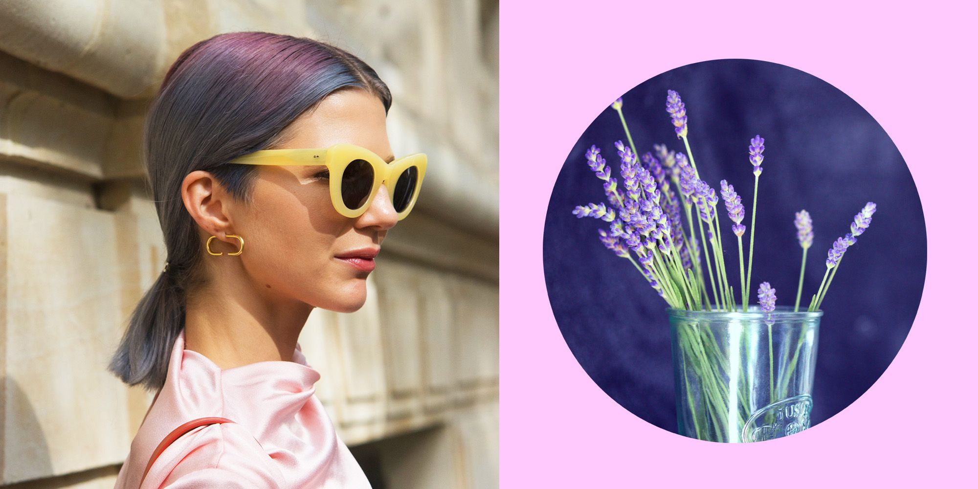 Colore capelli primavera 2019, il lavender gray è il mix hipster che si accende con le luci dei festival