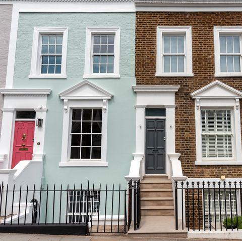 Coloured row of houses