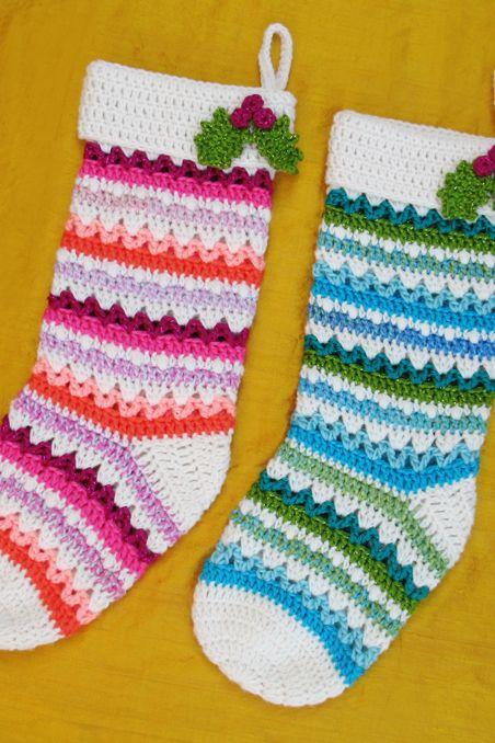 20 Best Crochet Christmas Stocking Patterns Free Christmas Crochet Stocking Templates
