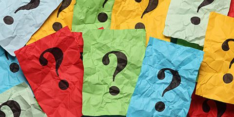 Colorful Stick Notes with Question Marks