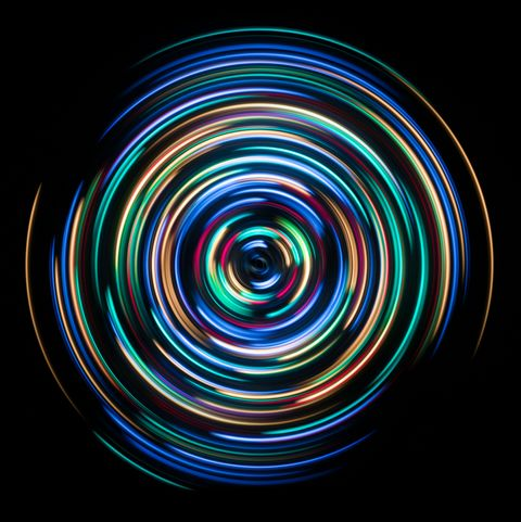 Colorful Spinning Light Trails