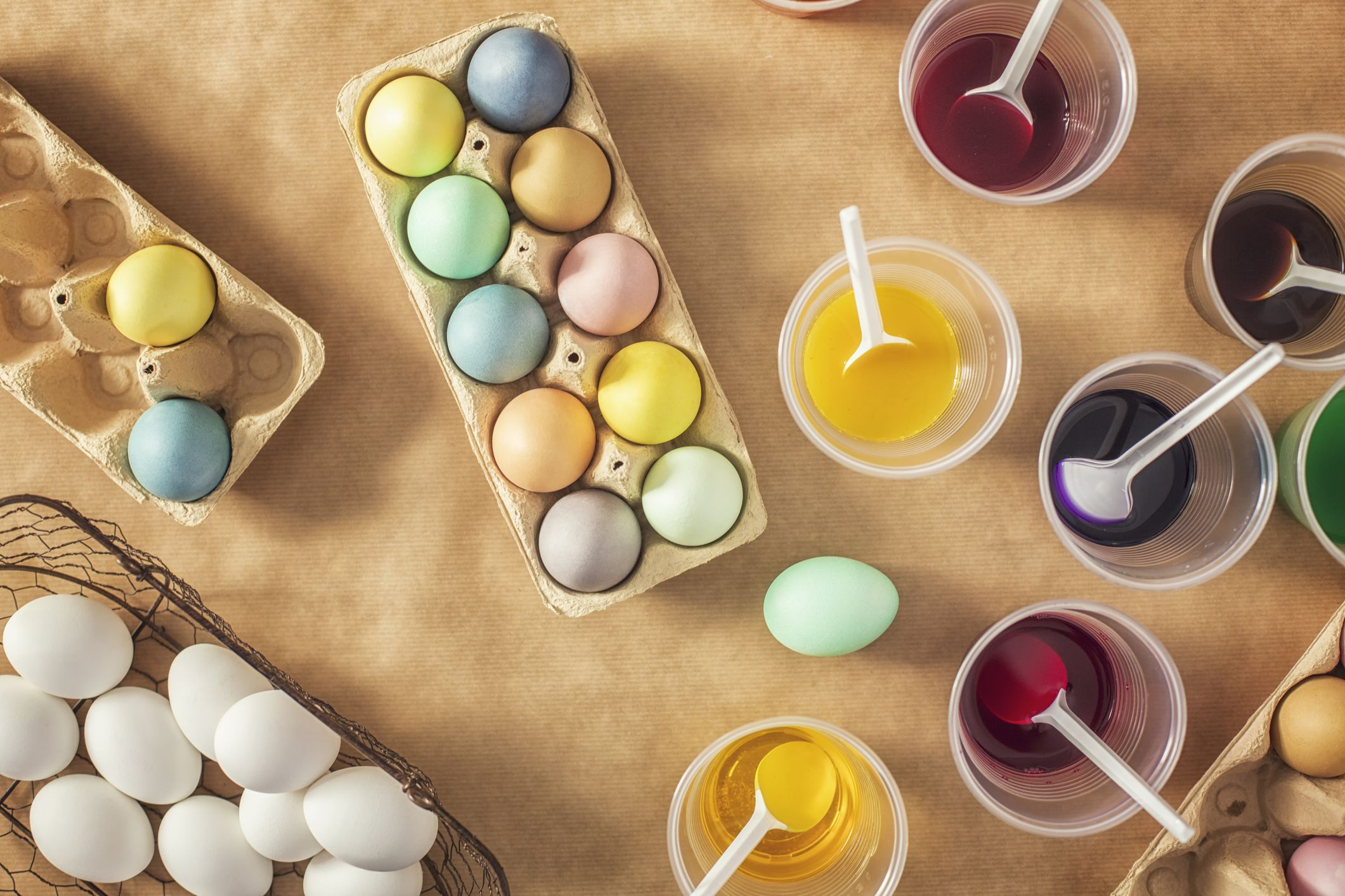 How to make purple easter egg dye with food coloring