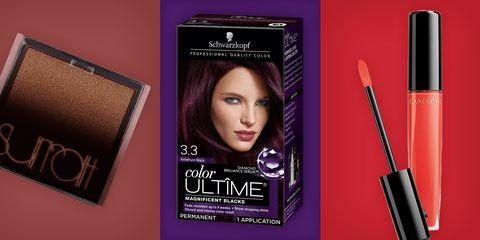 Eyebrow, Violet, Beauty, Purple, Mascara, Product, Eye liner, Hair coloring, Brown, Eye,