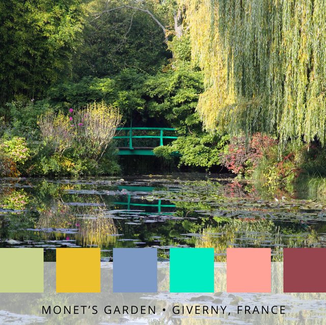 colour palettes of the world's most famous gardens