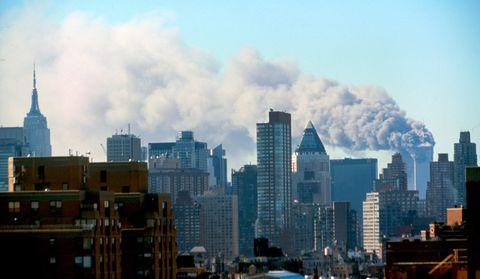 The Manhattan skyline following the terrorist attacks on the World Trade Centre.