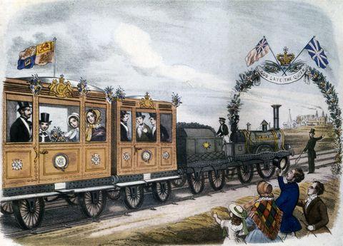 ヴィクトリア女王 ロイヤルトレイン ロイヤルファミリー お召列車 専用 列車