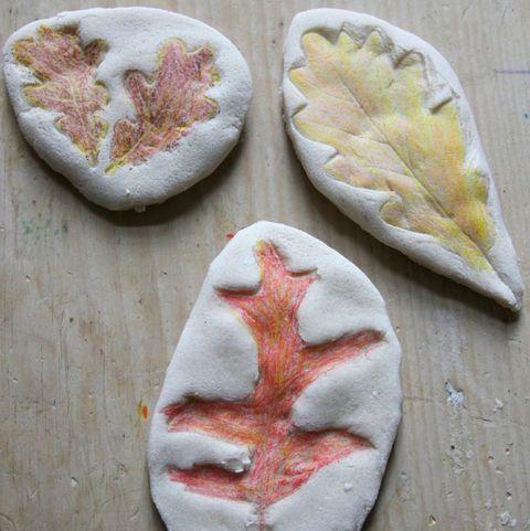 salt dough leaves   leaf craft leaf art for kids