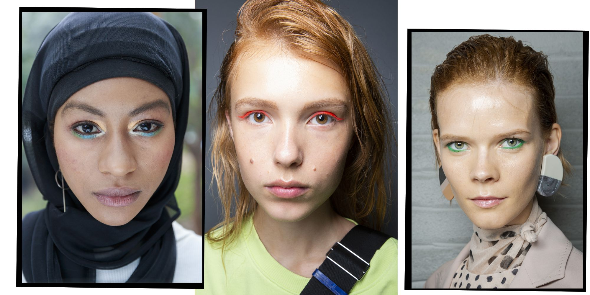 Coloured eyeliner 2019 makeup trend
