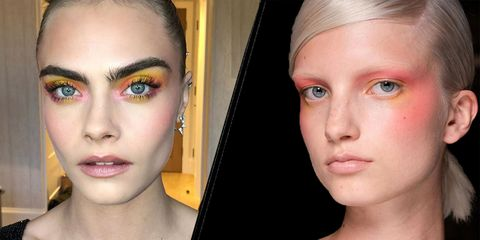 Colourful makeup trend