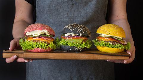Colourful Hamburgers