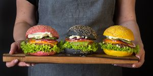 Colourful Hamburgers