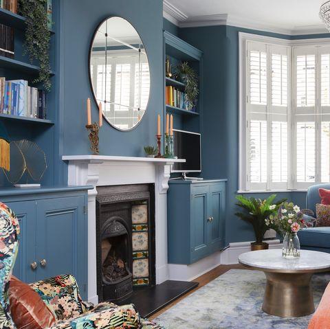 Long, narrow living room transformation