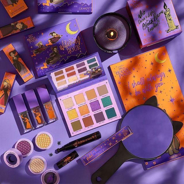 colourpop cosmetics disney hocus pocus coven crew makeup collection