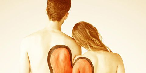 Shoulder, Joint, Back, Muscle, Tan, Painting, Love, Figure drawing, Illustration, Undergarment,
