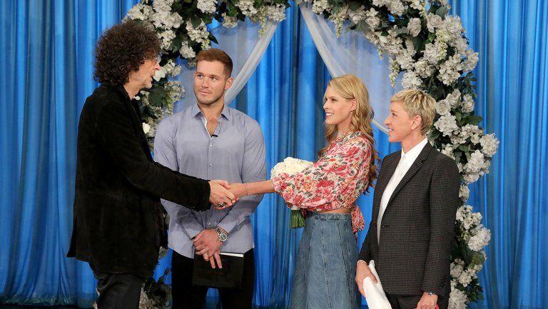 Colton Underwood Just Officiated Howard Stern's Wedding on Ellen, Which...Sure! Okay!