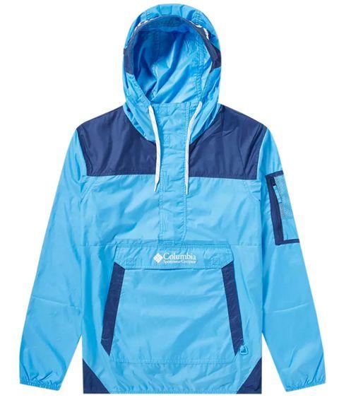 Clothing, Outerwear, Jacket, Hood, Blue, Turquoise, Windbreaker, Sleeve, Raincoat, Electric blue,