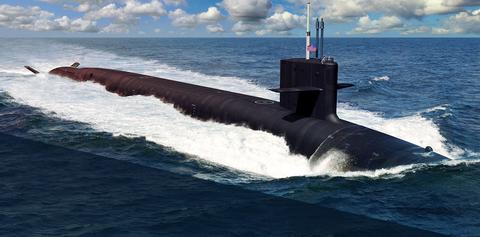 Submarine, Ballistic missile submarine, Cruise missile submarine, Vehicle, Ocean, Sea, Wind wave, Watercraft,