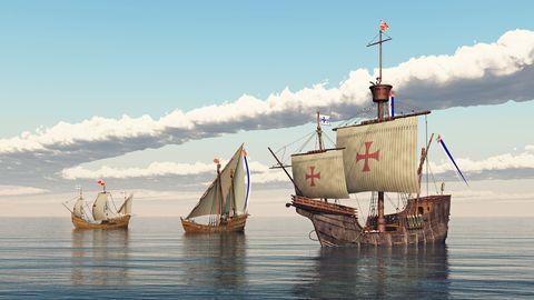 Tijdgenoten van Columbus waren niet bang dat de ontdekkingsreiziger van de aarde zou vallen.