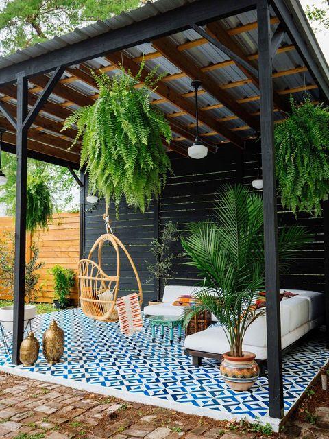 columpio de bambú