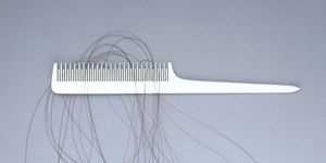 Hair in comb