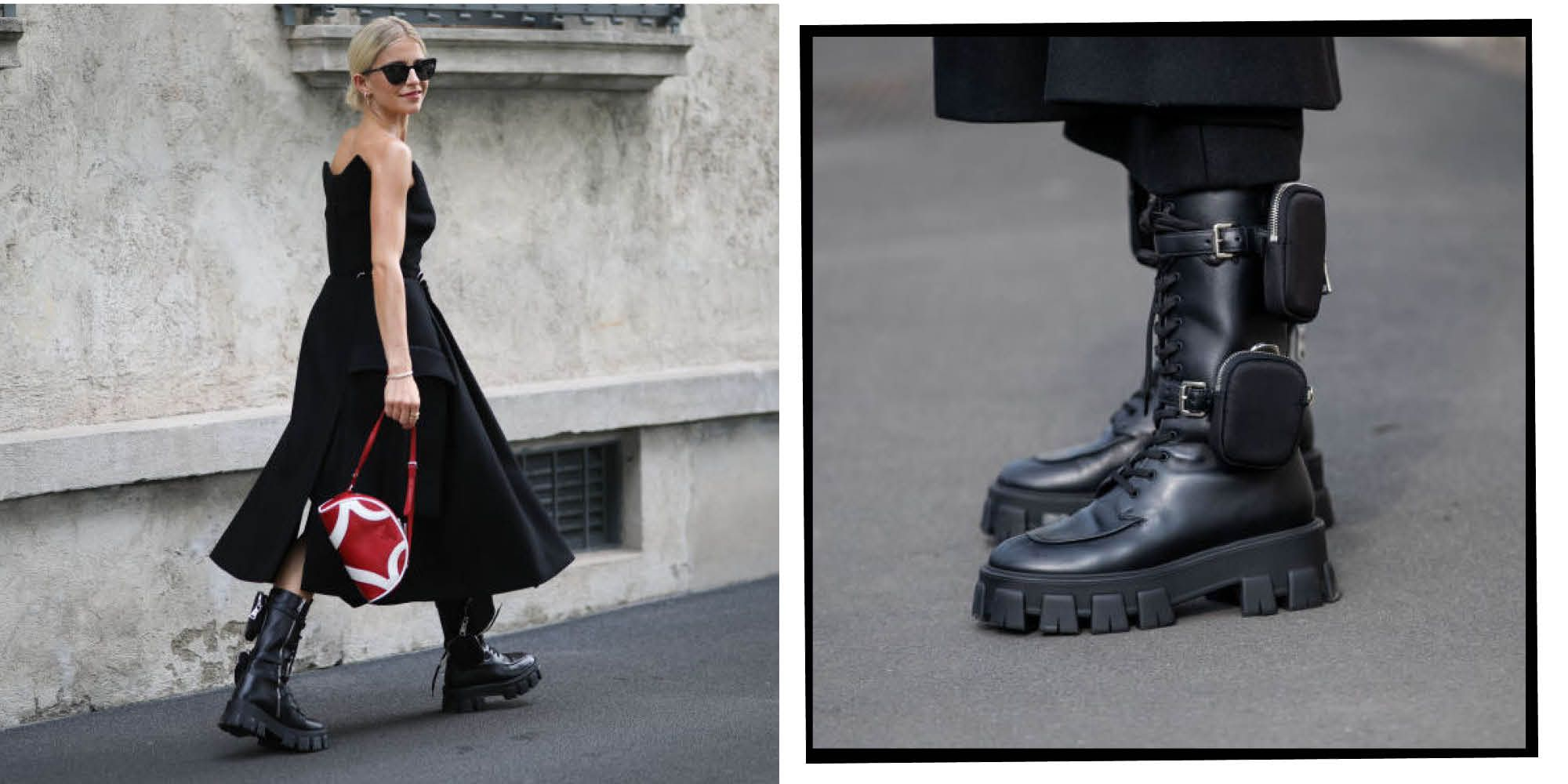 3 Different Outfits: Black Combat Boots