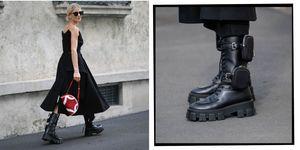 combat boots trend - prada combat boots