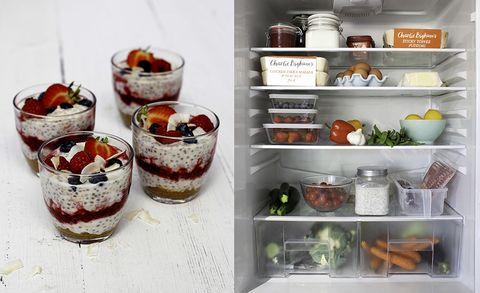 organised fridge, birchir, time saving