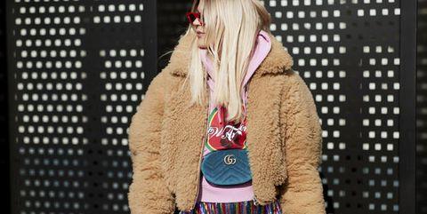 Clothing, Fashion, Street fashion, Outerwear, Jacket, Beige, Design, Textile, Pattern, Waist,