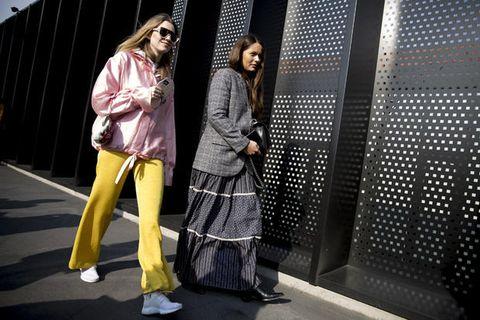 Street fashion, Yellow, Fashion, Snapshot, Outerwear, Textile, Style, Fashion design,