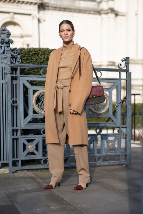 london, england   february 17 helena bordon is seen on the street during london fashion week february 2019 wearing victoria beckham on february 17, 2019 in london, england photo by matthew sperzelgetty images